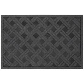 Style Selections Gray Rectangular Door Mat (Common: 23-in x 35-in; Actual: 23-in x 35-in)