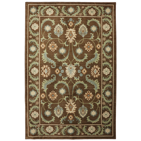 Mohawk Home Leesport Bison Brown Rectangular Indoor Woven Area Rug (Common: 5 x 8; Actual: 63-in W x 94-in L x 0.5-ft Dia)