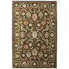 Mohawk Home Leesport Bison 63-in x 94-in Rectangular Brown/Tan Floral Area Rug