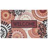 Mohawk Home 18-in x 30-in Orange Rectangular Door Mat