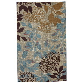 Mohawk Home Bella Garden Ivory Rectangular Outdoor Tufted Area Rug (Common: 5 x 8; Actual: 60-in W x 96-in L x 0.5-ft Dia)