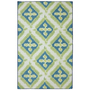 Mohawk Home Summer Splash Blue Rectangular Outdoor Tufted Area Rug (Common: 8 x 10; Actual: 96-in W x 120-in L x 0.5-ft Dia)