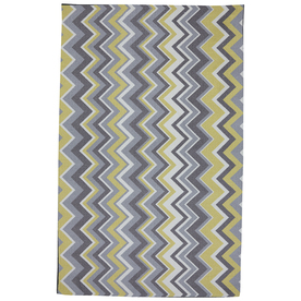 Mohawk Home Ella Zig Zag Rectangular Yellow Transitional Outdoor Tufted Area Rug (Common: 5-ft x 8-ft; Actual: 5-ft x 8-ft)