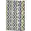Mohawk Home Ella Zig Zag Rectangular Yellow Transitional Outdoor Tufted Area Rug (Common: 8-ft x 10-ft; Actual: 8-ft x 10-ft)