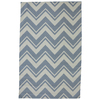 Mohawk Home Pool Zig Zag Blue Rectangular Outdoor Tufted Area Rug (Common: 5 x 8; Actual: 60-in W x 96-in L x 0.5-ft Dia)