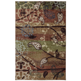 Mohawk Home Paisley Garden Rectangular Cream Floral Tufted Area Rug (Common: 5-ft x 8-ft; Actual: 5-ft x 8-ft)