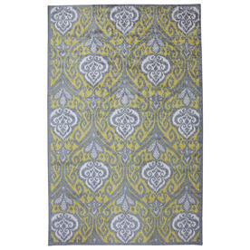 Mohawk Home Elegant Ikat Rectangular Yellow Floral Tufted Area Rug (Common: 5-ft x 8-ft; Actual: 5-ft x 8-ft)