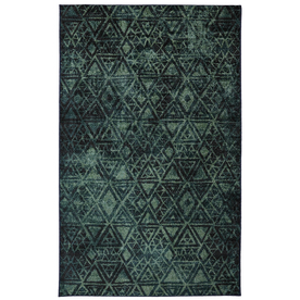 Mohawk Home Indie Pattern Green Rectangular Indoor Tufted Area Rug (Common: 8 x 10; Actual: 96-in W x 120-in L x 0.5-ft Dia)