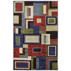 Mohawk Home Multi Frame Rectangular Blue Geometric Tufted Area Rug (Common: 5-ft x 8-ft; Actual: 5-ft x 8-ft)