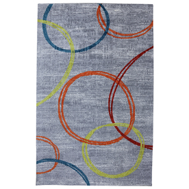 Mohawk Home Sleek Rectangular Gray Transitional Tufted Area Rug (Common: 5-ft x 8-ft; Actual: 5-ft x 8-ft)