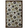 Mohawk Home Suno Repeat Rectangular Cream Floral Tufted Area Rug (Common: 5-ft x 8-ft; Actual: 5-ft x 8-ft)