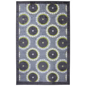 Mohawk Home Rotunda Medallion Rectangular Purple Floral Tufted Area Rug (Common: 5-ft x 8-ft; Actual: 5-ft x 8-ft)