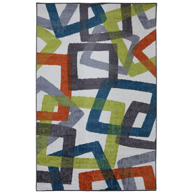 Mohawk Home Transform Gray Rectangular Indoor Tufted Area Rug (Common: 8 x 10; Actual: 96-in W x 120-in L x 0.5-ft Dia)