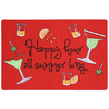 Mohawk Home 27-in x 18-in Red/Pink Rectangular Door Mat