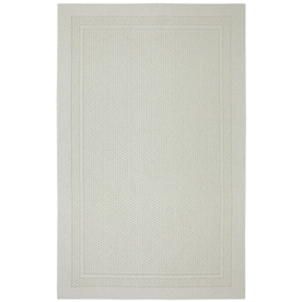 Mohawk Home Honeycomb Border Ivory Rectangular Indoor Tufted Area Rug (Common: 5 x 7; Actual: 60-in W x 84-in L x 0.5-ft Dia)
