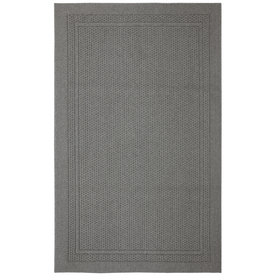 Mohawk Home Honeycomb Border Gray Rectangular Indoor Tufted Area Rug (Common: 5 x 7; Actual: 60-in W x 84-in L x 0.5-ft Dia)