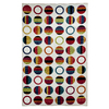 Mohawk Home Striped Dots White Rectangular Indoor Tufted Area Rug (Common: 5 x 8; Actual: 60-in W x 96-in L x 0.5-ft Dia)