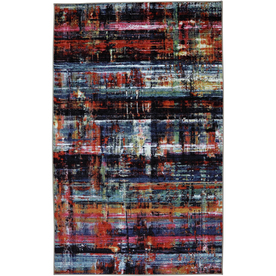 Mohawk Home Windthread Black Rectangular Indoor Tufted Area Rug (Common: 5 x 8; Actual: 60-in W x 96-in L x 0.5-ft Dia)