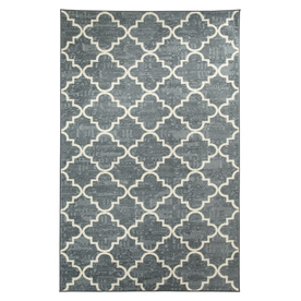 Mohawk Home Fancy Trellis Gray Rectangular Indoor Tufted Area Rug (Common: 5 x 8; Actual: 60-in W x 96-in L x 0.5-ft Dia)