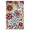 Mohawk Home Idas Garden White Rectangular Indoor Tufted Area Rug (Common: 5 x 8; Actual: 60-in W x 96-in L x 0.5-ft Dia)