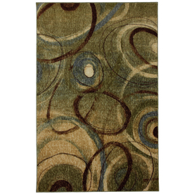 Mohawk Home Orbiting Green Rectangular Indoor Tufted Area Rug (Common: 8 x 10; Actual: 96-in W x 120-in L x 0.5-ft Dia)