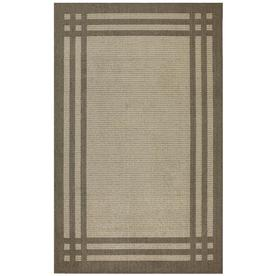 allen + roth Carney Lichen Putty Brown Rectangular Indoor Tufted Area Rug (Common: 5 x 8; Actual: 60-in W x 96-in L x 0.5-ft Dia)