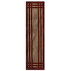 allen + roth Carney Madder Aureo Brown Rectangular Indoor Tufted Runner (Common: 2 x 8; Actual: 24-in W x 96-in L x 0.5-ft Dia)