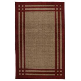 allen + roth Carney Madder Aureo Red Rectangular Indoor Tufted Area Rug (Common: 5 x 8; Actual: 60-in W x 96-in L x 0.5-ft Dia)
