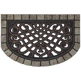 Mohawk Home Brown Semicircle Door Mat (Common: 23-in x 35-in; Actual: 23-in x 35-in)