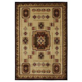 Mohawk Home Pueblo Brown Rectangular Indoor Woven Area Rug (Common: 5 x 8; Actual: 63-in W x 94-in L x 0.5-ft Dia)