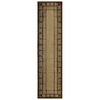 Mohawk Home Leaf Point Brown Rectangular Indoor Woven Runner (Common: 2 x 8; Actual: 23-in W x 91-in L x 0.5-ft Dia)