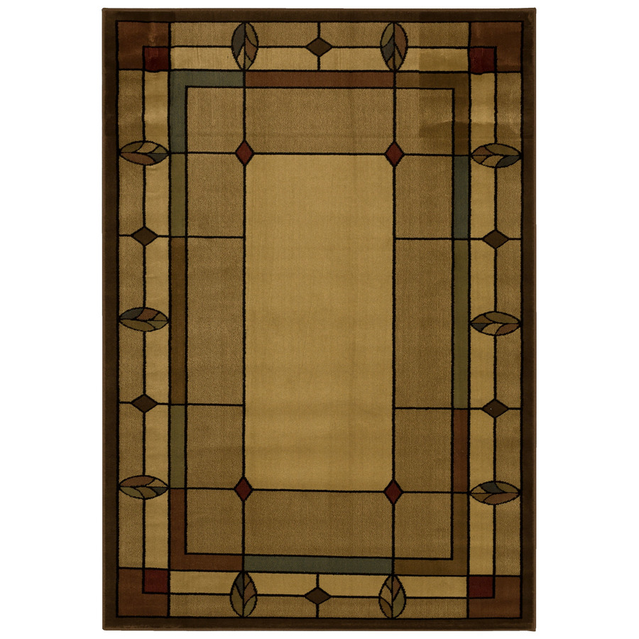 Shop Mohawk Home Leaf Point Multi Rectangular Brown