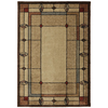 Mohawk Home Leaf Point Multi Rectangular Brown Geometric Woven Area Rug (Common: 8-ft x 10-ft; Actual: 7.83-ft x 10.75-ft)