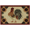 Mohawk Home Rooster Provencal Brown Rectangular Indoor Tufted Throw Rug (Common: 3 x 4; Actual: 30-in W x 46-in L x 0.5-ft Dia)