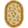 Mohawk Home Summer Flowers Beige Oval Cream Floral Tufted Area Rug (Common: 5-Ft x 7-Ft; Actual: 65-in x 92-in)