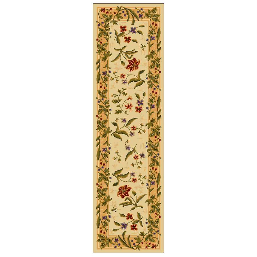Shop Mohawk Home Summer Flowers Beige Cream Tufted Runner