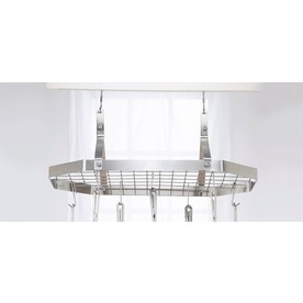Cuisinart 32.6-in x 15.4-in Brushed Stainless Octagon Pot Rack