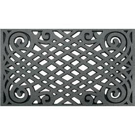 Style Selections Graphite Rectangular Door Mat (Common: 22-in x 34-in; Actual: 22-in x 34-in)