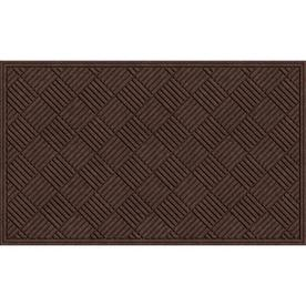 "Blue Hawk 36"" x 60"" Textures Crosshatch Walnut Door Mat"