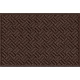 "Blue Hawk 48"" x 72"" Textures Crosshatch Walnut Door Mat"