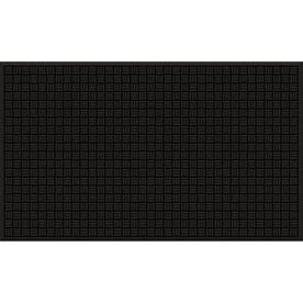 Blue Hawk 36-in x 60-in Black Recycled Rubber Rectangular Door Mat