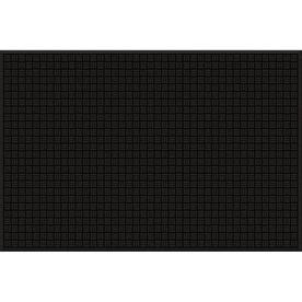 Blue Hawk Black Rectangular Door Mat (Common: 48-in x 72-in; Actual: 48-in x 72-in)