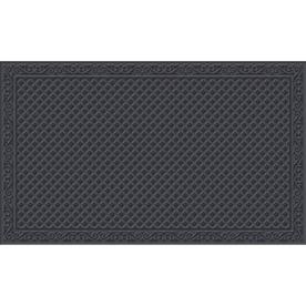 Blue Hawk Blue/Gray Rectangular Door Mat (Common: 36-in x 60-in; Actual: 36-in x 60-in)
