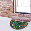 Style Selections Multicolor Stained Glass Semicircle Door Mat (Common: 22-in x 36-in; Actual: 22-in x 36-in)
