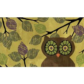 Style Selections Green/Brown Rectangular Door Mat (Common: 18-in x 30-in; Actual: 18-in x 30-in)