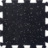 Apache Mills, Inc. 12-in x 12-in Black Rubber Tile