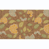 Apache Mills, Inc. 30-in x 18-in Tan Rectangular Door Mat