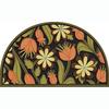 Apache Mills, Inc. Multicolor Semicircle Door Mat (Common: 18-in x 30-in; Actual: 18-in x 30-in)