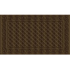 Style Selections 30-in x 18-in Coffee Rectangular Door Mat