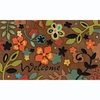 Apache Mills, Inc. 30-in x 18-in Brown Rectangular Door Mat